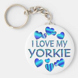 Eu amo meu Yorkie Chaveiro