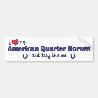 Eu amo meus cavalos de um quarto americanos (caval adesivo para carro
