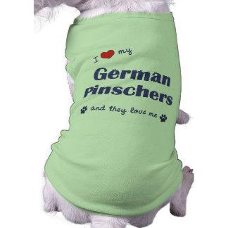Eu amo meus Pinschers alemães (os cães múltiplos) Roupas Para Cães