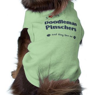 Eu amo meus Pinschers de Doodleman (os cães múltip Camiseta Para Cães