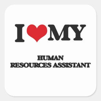 Eu amo meus recursos humanos assistentes adesivo