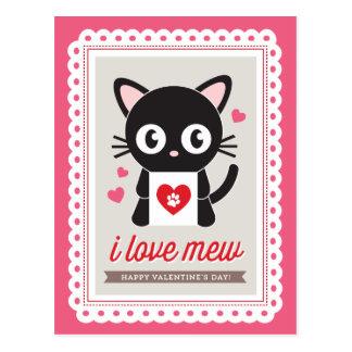 Eu amo Mew! por Origami imprime o cartão dos Cartão Postal