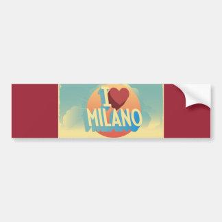 Eu amo Milão Adesivo Para Carro