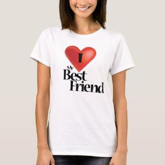 Eu amo minha camisa do melhor amigo