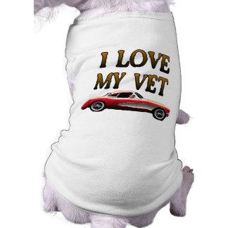 Eu amo minha camisa do veterinário camisa sem mangas para cachorro