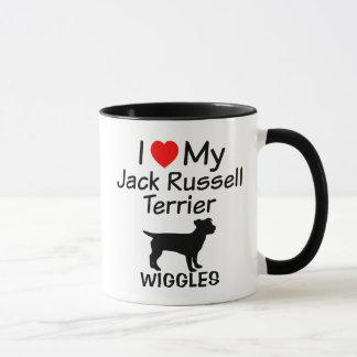 Eu amo minha caneca do cão de Jack Russell Terrier