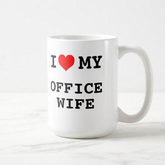Eu amo minha esposa do escritório caneca de café