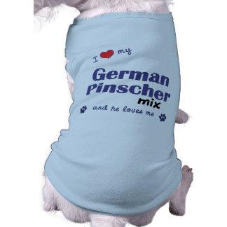 Eu amo minha mistura alemão do Pinscher (o cão mas Camisa Para Cães