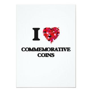 Eu amo moedas comemorativas convite 12.7 x 17.78cm