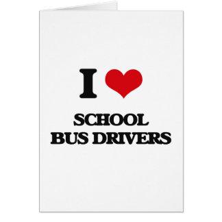 Eu amo motoristas de auto escolar cartoes