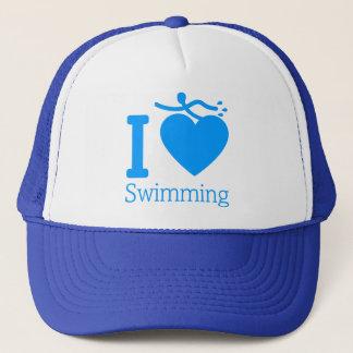 Eu amo nadar o chapéu boné