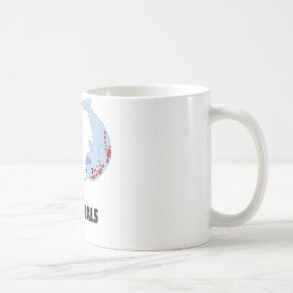 eu amo narwhals caneca de café