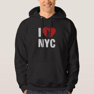 Eu amo NYC Moleton Com Capuz