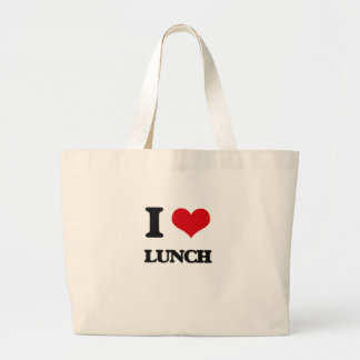Eu amo o almoço bolsa para compras
