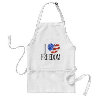 Eu amo o americano do coração da bandeira dos E.U. Avental