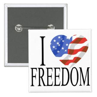 Eu amo o americano do coração da bandeira dos E.U. Botons