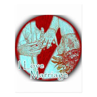 Eu amo o amor do casamento cartão postal