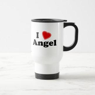 Eu amo o anjo caneca térmica