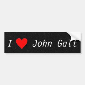 Eu amo o autocolante no vidro traseiro de John Gal Adesivo Para Carro