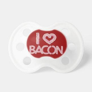 Eu amo o bacon chupeta para bebê