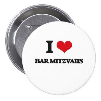 Eu amo o bar Mitzvahs Botons
