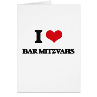 Eu amo o bar Mitzvahs Cartão Comemorativo
