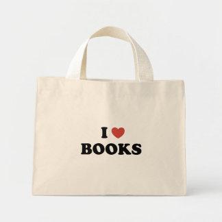 Eu amo o bolsa minúsculo dos livros
