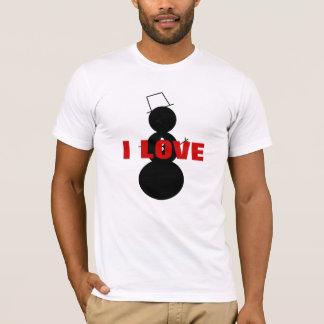 Eu amo o boneco de neve t-shirts