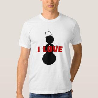 Eu amo o boneco de neve tshirts