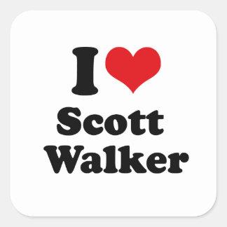 Eu amo o caminhante de Scott Adesivos Quadrados