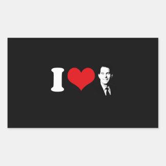 Eu amo o caminhante de Scott -- Eleição 2016 Adesivos Em Forma Retangular