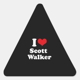 Eu amo o caminhante de Scott - eleição 2016 Adesivo Em Forma De Triângulo
