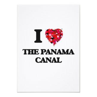 Eu amo o canal do Panamá Convite 12.7 X 17.78cm