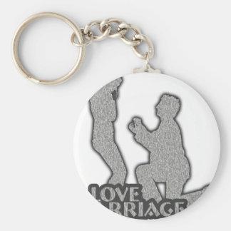 Eu amo o casamento você casar-me-ei? chaveiro