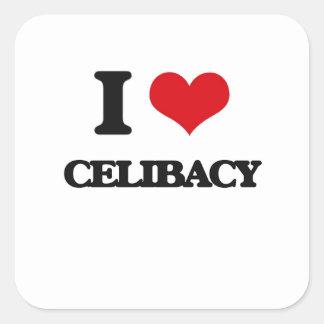 Eu amo o celibato adesivo quadrado