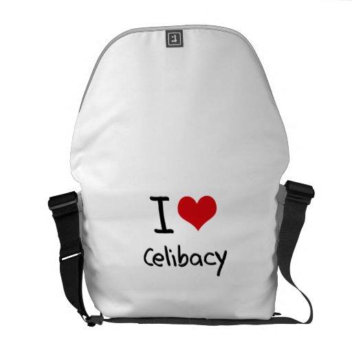 Eu amo o celibato bolsa mensageiro