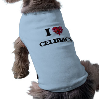 Eu amo o celibato camisa sem mangas para cachorro