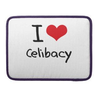 Eu amo o celibato bolsa para MacBook
