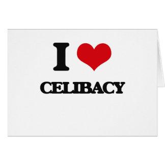 Eu amo o celibato cartoes