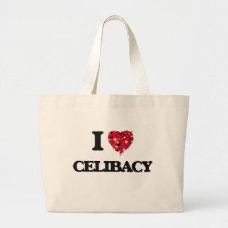 Eu amo o celibato sacola tote jumbo