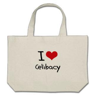 Eu amo o celibato bolsa de lona