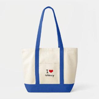 Eu amo o celibato bolsas para compras