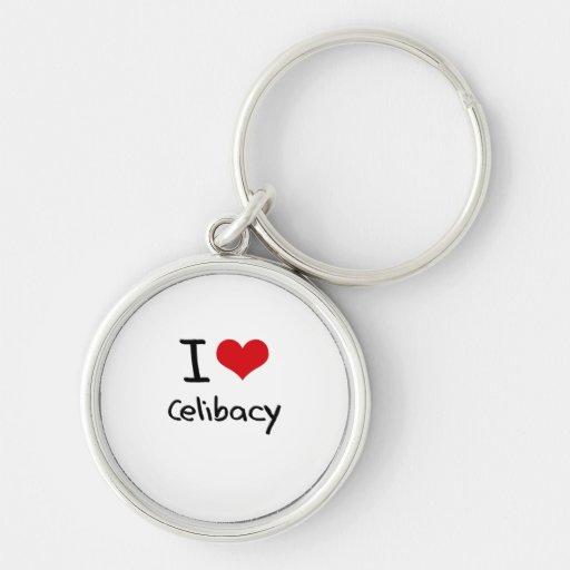 Eu amo o celibato chaveiros