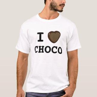 Eu amo o chocolate do choco camisetas