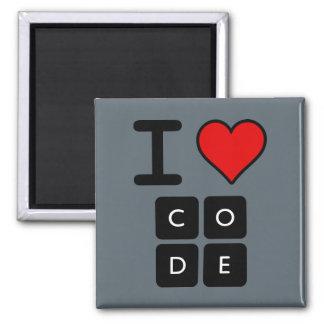 Eu amo o código ímã quadrado