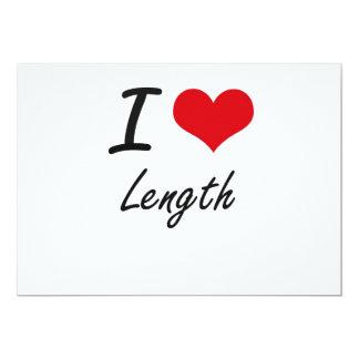 Eu amo o comprimento convite 12.7 x 17.78cm