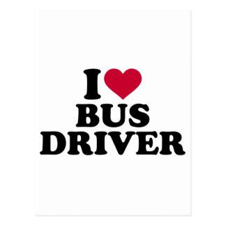 Eu amo o condutor de autocarro cartão postal