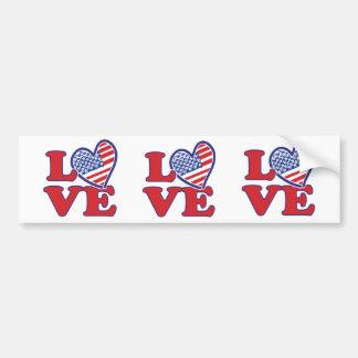 Eu amo o coração dos EUA Adesivo Para Carro
