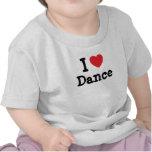 Eu amo o costume do coração da dança personalizado