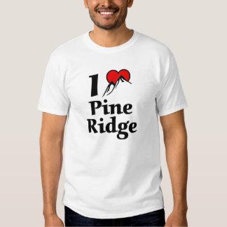 Eu amo o cume do pinho tshirts
